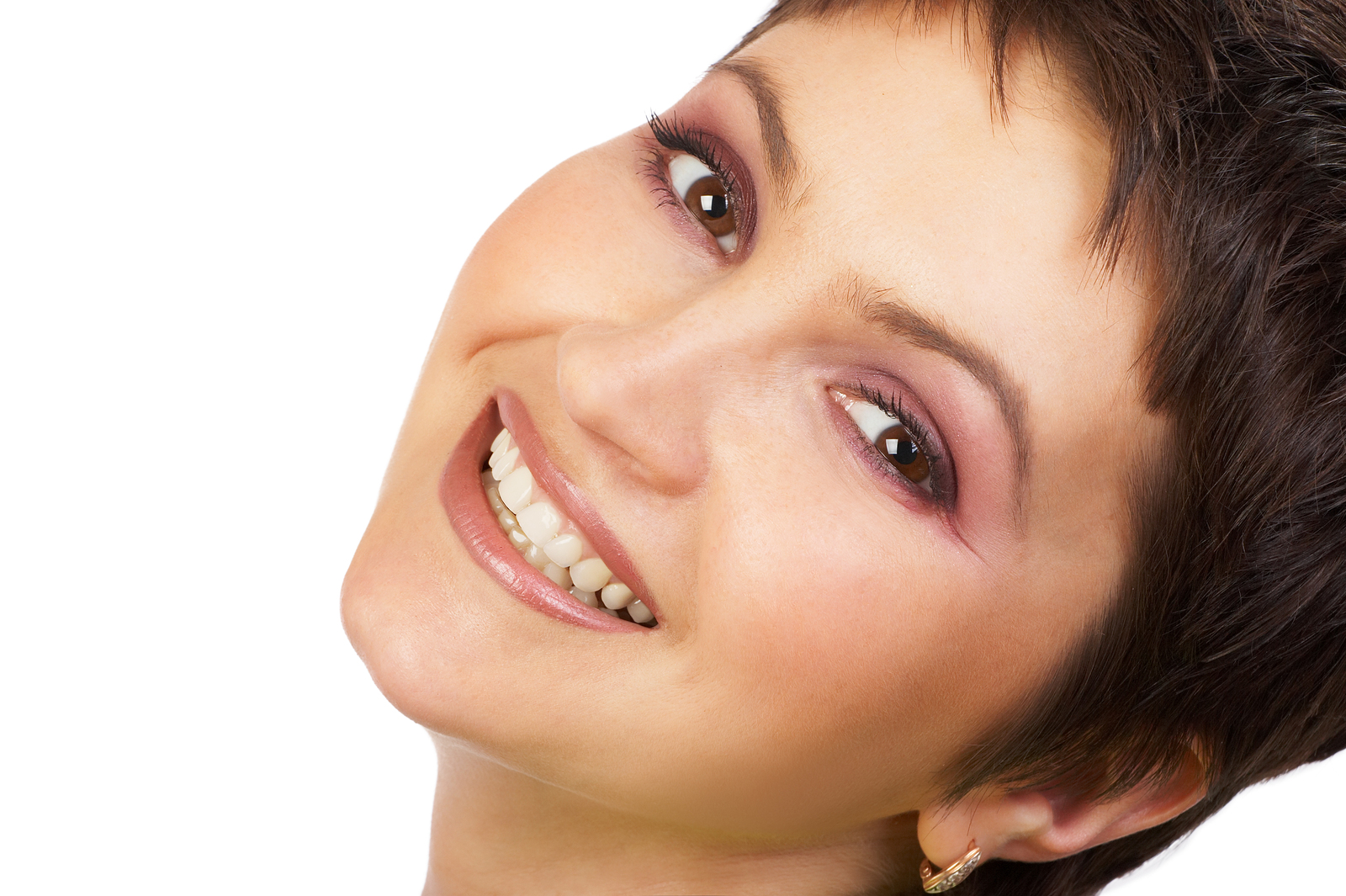 Woman With Veneers Smiling